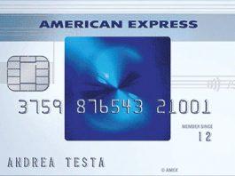 Anteprima carta Blu Amex