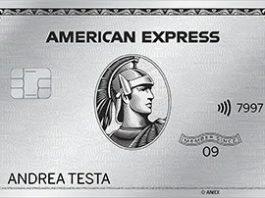 Anteprima della Carta Platino American Express