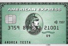 Anteprima carta verde American Express