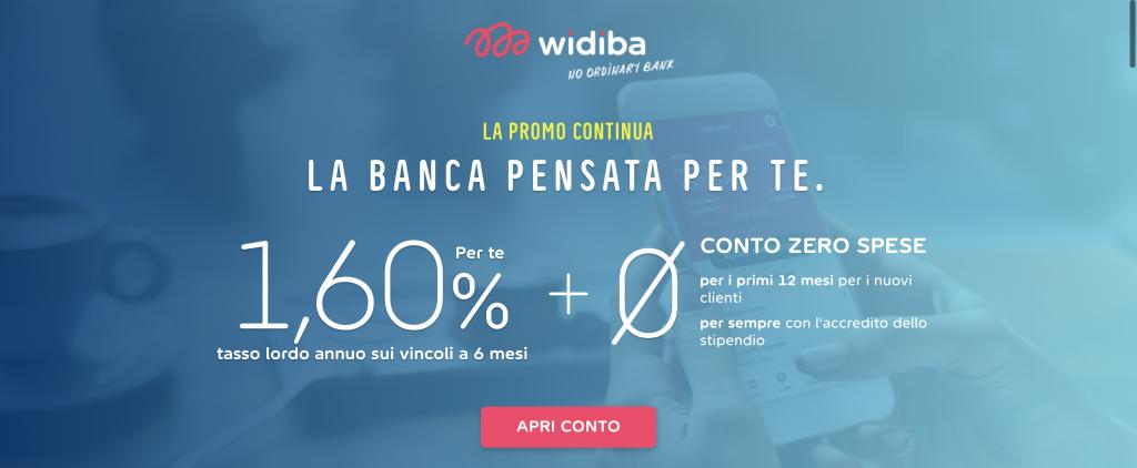conto Widiba | Offerta promo per i nuovi clienti