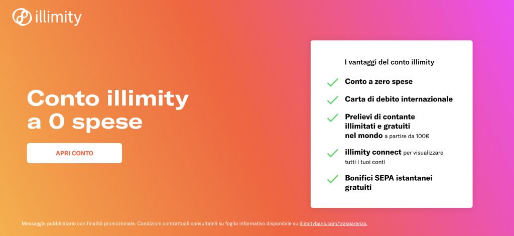 Vantaggi di Illimiity Bank | Conto Corrente Illimity