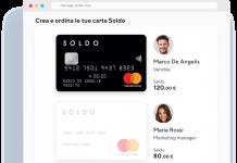 Carta ricaricabile Soldo Business | anteprima piattaforma