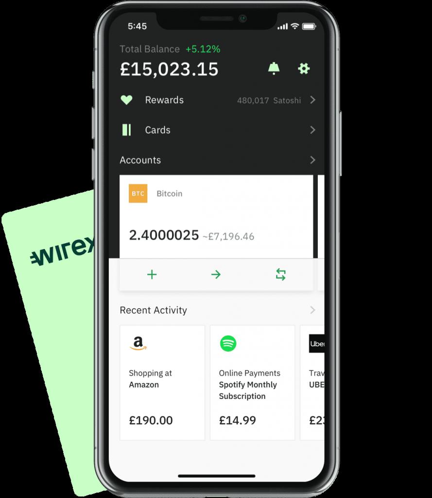 App e conto carta Wirex