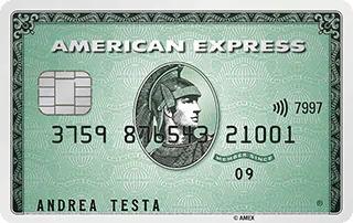 La carta di credito American Express Verde | Carte di Credito American Express