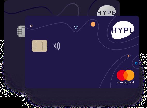 Anteprima carta di credito Hype | Carta di credito senza conto corrente