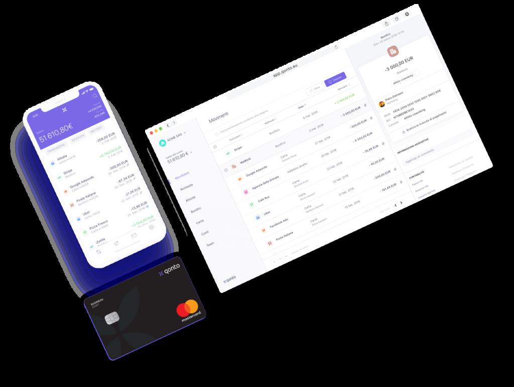 Anteprima dell'app e della piattaforma Qonto | Migliori Carte Aziendali