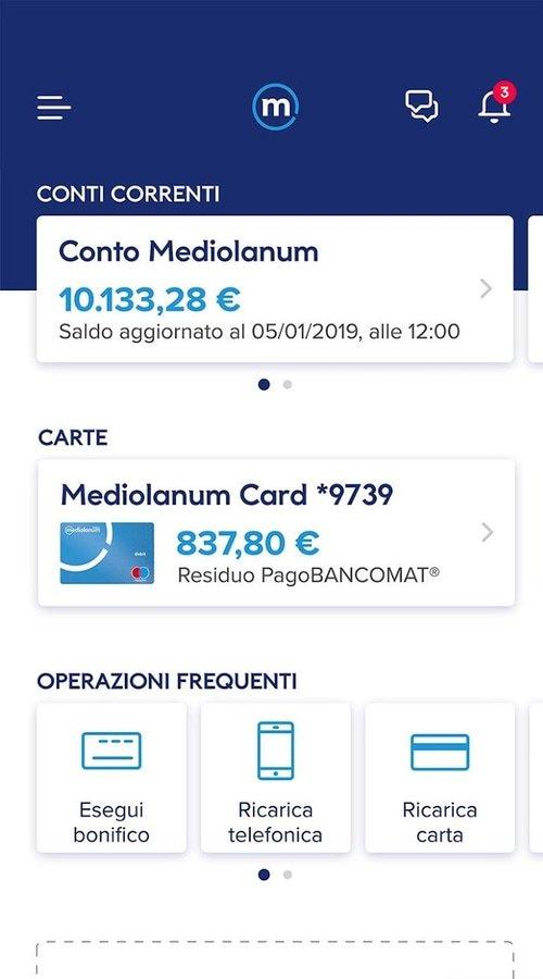 conto corrente selfy banca mediolanum